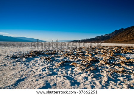 Badwater basin in Death Valley california - stock photo