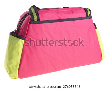Bag, Baby Diaper Bag on the background - stock photo