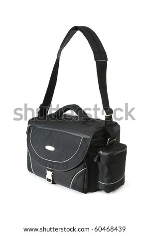 bag for a camera isolated on a white background - stock photo