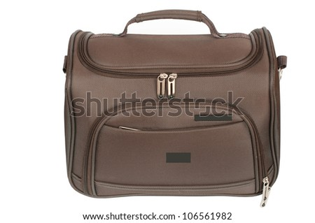 Bag for camera on a white background - stock photo