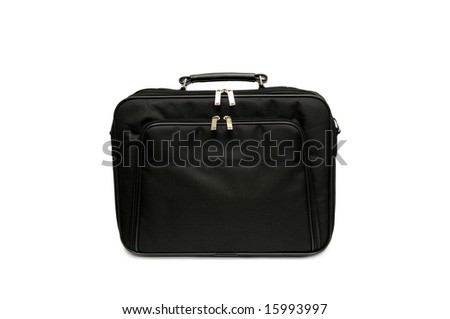 Bag for laptop isolated on a white background