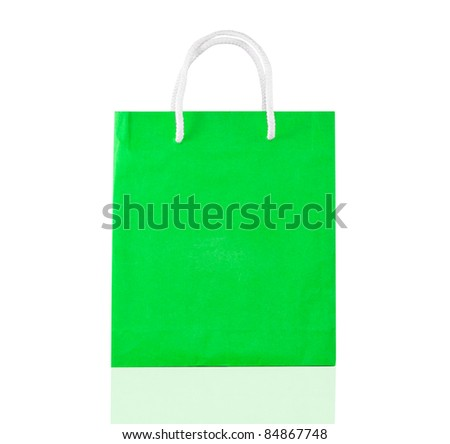 Bag for shopping isolated on white background - stock photo