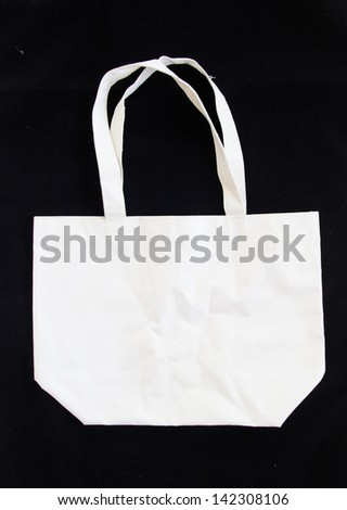 Bag, made �¢??�¢??of cloth material used for input. - stock photo