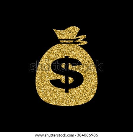 bag money icon - stock photo