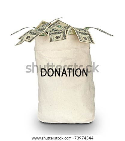 bag of donations - stock photo