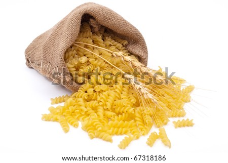 Bag of pasta - stock photo