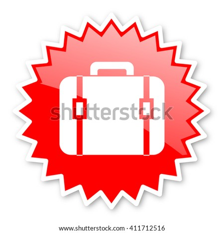 bag red tag, sticker, label, star, stamp, banner, advertising, badge, emblem, web icon - stock photo
