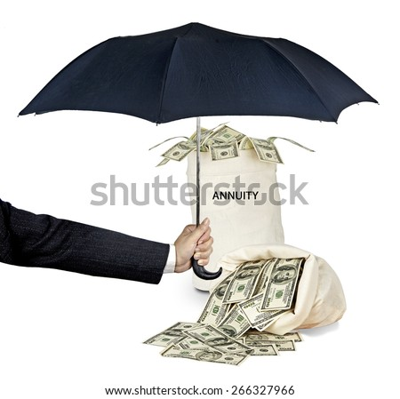 Bag with annuity - stock photo