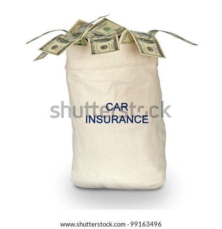 bag with car insurance