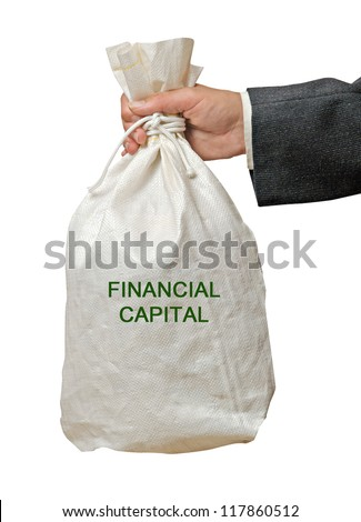 Bag with fund - stock photo