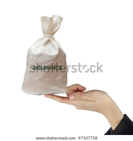 Bag with insurance - stock photo