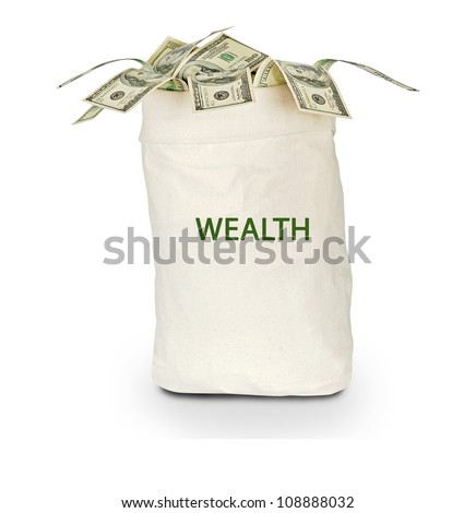 bag with wealth