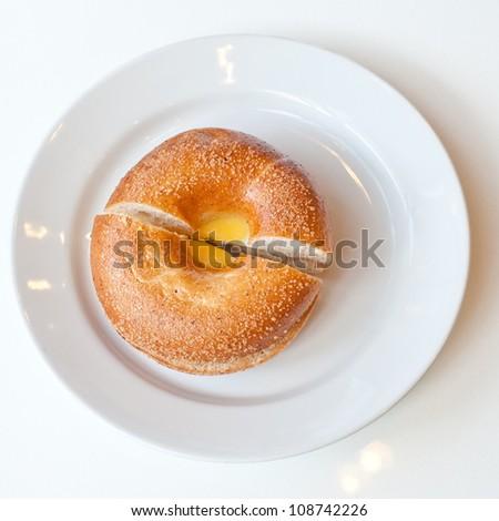 Bagel Egg Sandwich - stock photo