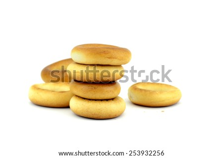 bagels on a white background - stock photo