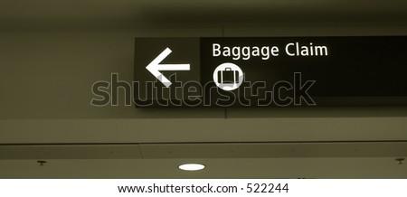 Baggage claim sign - stock photo