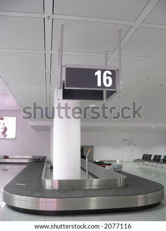 Baggage collection belt at the josep strauss airport, Munich