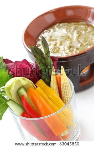 Bagna Cauda Dip With Assorted Vegetables Recipe — Dishmaps