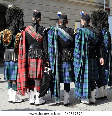Bagpipers - stock photo