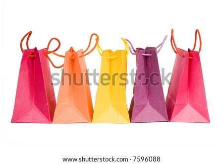 Bags isolated on white background (clipping path) - stock photo