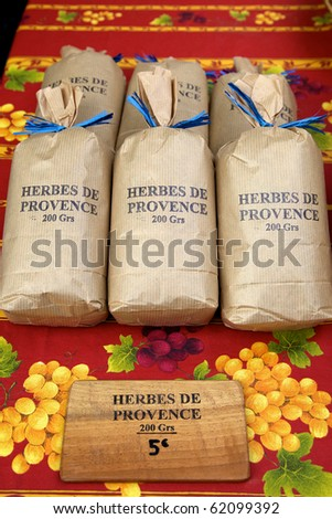 Bags of herbs - stock photo