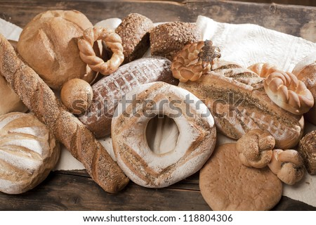 baguette and bakery food