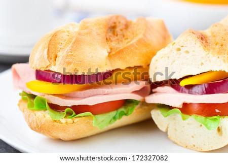 Baguette sandwich - stock photo