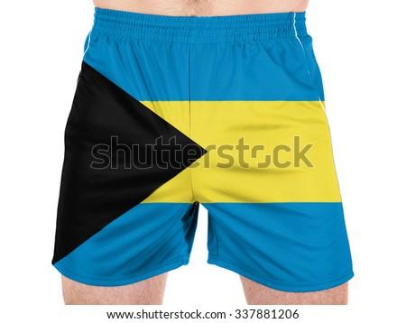 Bahamas. Bahamian flag   - stock photo
