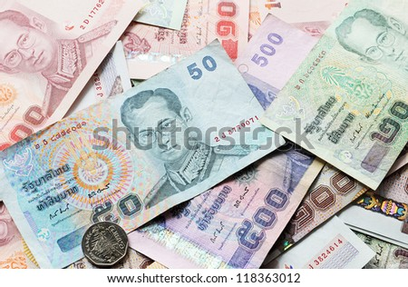 Baht is the currency of Thailand, no flat scan