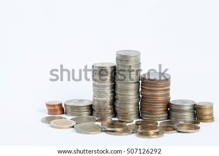 Baht Thailand coins of various types