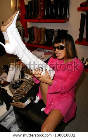 Bai Ling  at the Dans Sara, Leezee Fabulous Shoes and Swing Cologne Gifting Suite. LA Fashion Market, Los Angeles, CA. 06-13-08