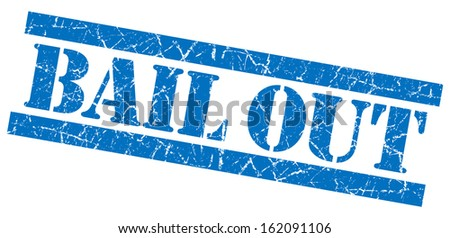 Bail out grunge blue stamp - stock photo