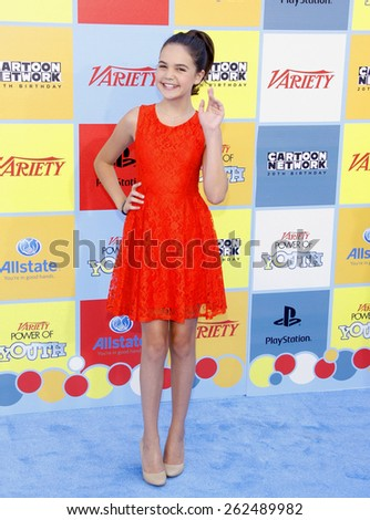 Bailee Madison at the Variety's 6th Annual Power Of Youth held at the Paramount Studios in Hollywood on September 15, 2012.  - stock photo