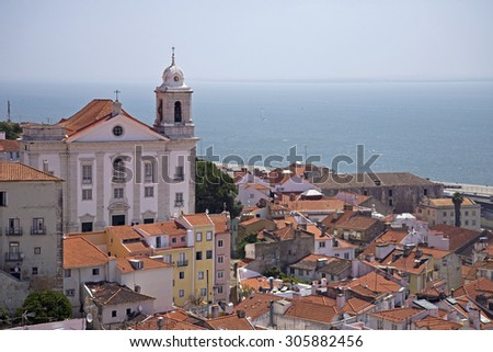 Bairro Alto, Lisbon, Portugal - stock photo