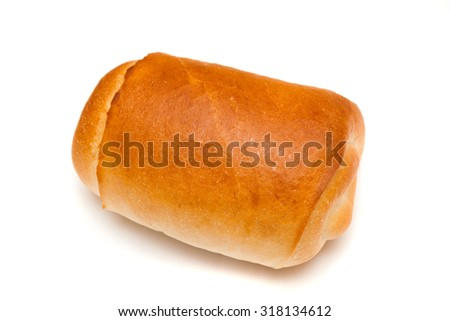 Baked brad with chocolate inside - stock photo
