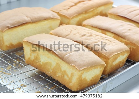 baked bread out of the oven in a bakery