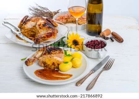baked chicken - stock photo