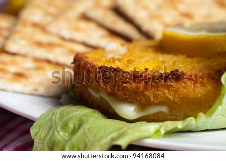Baked Cordon Bleu - stock photo
