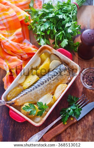 baked fish with potato
