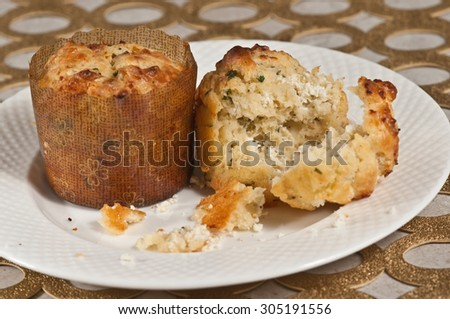Baked Goat Cheese Herb Muffins