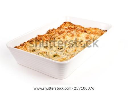 baked pasta - stock photo