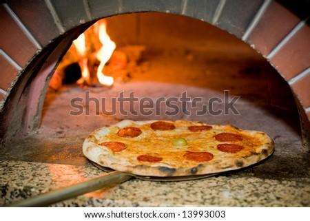 Baked pizza - stock photo
