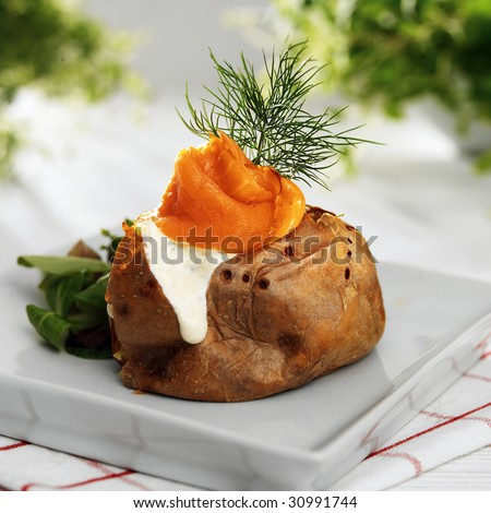 Baked potato - stock photo