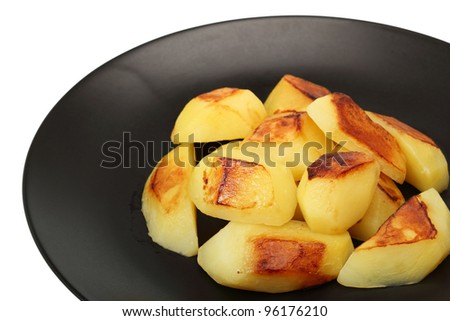 Baked Potato. Isolated with clipping path.