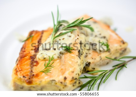 Baked Salmon Stock Photos, Images, & Pictures | Shutterstock