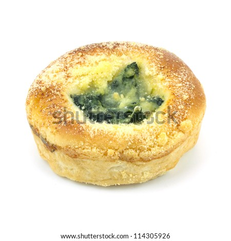 Baked Spinach Dip Mini Bread Bowls - stock photo