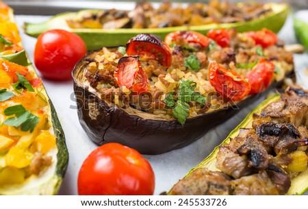 Baked Stuffed Vegetables - stock photo
