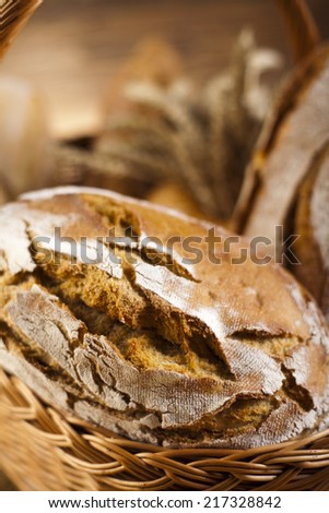 Baked traditional bread