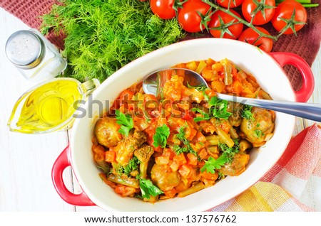 baked vegetable - stock photo
