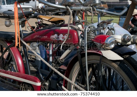 BAKERSFIELD, CA - APR 16: Buyers and sellers from Western US converge on the Horseless Carriage Club swap meet and show  on April 16, 2011, at Bakersfield, California. Even bicycles were offered.