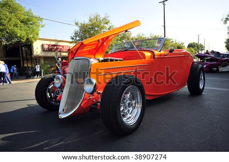 BAKERSFIELD, CA - OCT 10: A 1933 Ford roadster was one of 400+ custom ...